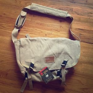 Retro gear army/navy courier shoulder bag